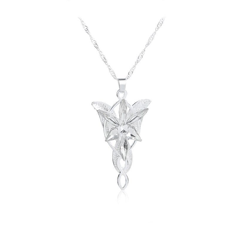 60 pcs lot The Lord Of The Hobbit long Arwen Evenstar pendant necklace men women dress