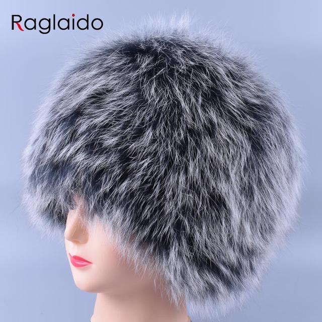 Raglaido Winter Cap Fur Hat Women Fox Knit Beanie Hat balaclava Lady Wintern Snow Cap Luxury Brand Hats gorro masculino LQ11177