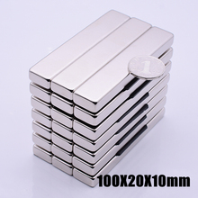 1pcs/lot N52 100x20x10 mm hot search magnet Strong magnets Rare Earth Neodymium Magnet for crafts wholesale 100*20*10
