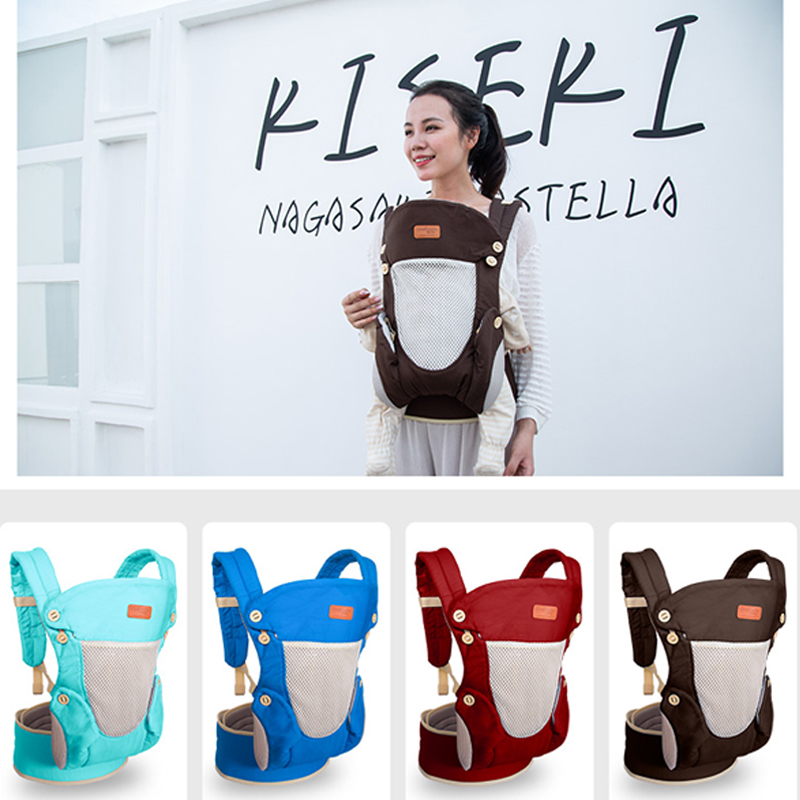 Ergonomic Baby Carrier Backpack Breathable Portable Infant Baby Carrier Kangaroo Hipseat Heaps Baby Sling Carrier Wrap