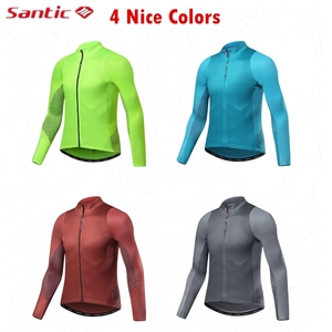Image 2 - Santic Autumn Winter Pro Cycling Jerseys  MTB Downhill Breathable Long Sleeve Top Jersey Mountain Bike Clothing Maillot Ciclismo