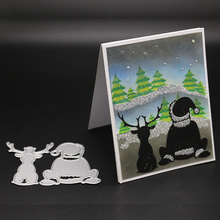AZSG Santa Claus reindeer Cutting Dies For DIY Scrapbooking Die Decoretive Embossing Stencial Decoative Cards Cutter