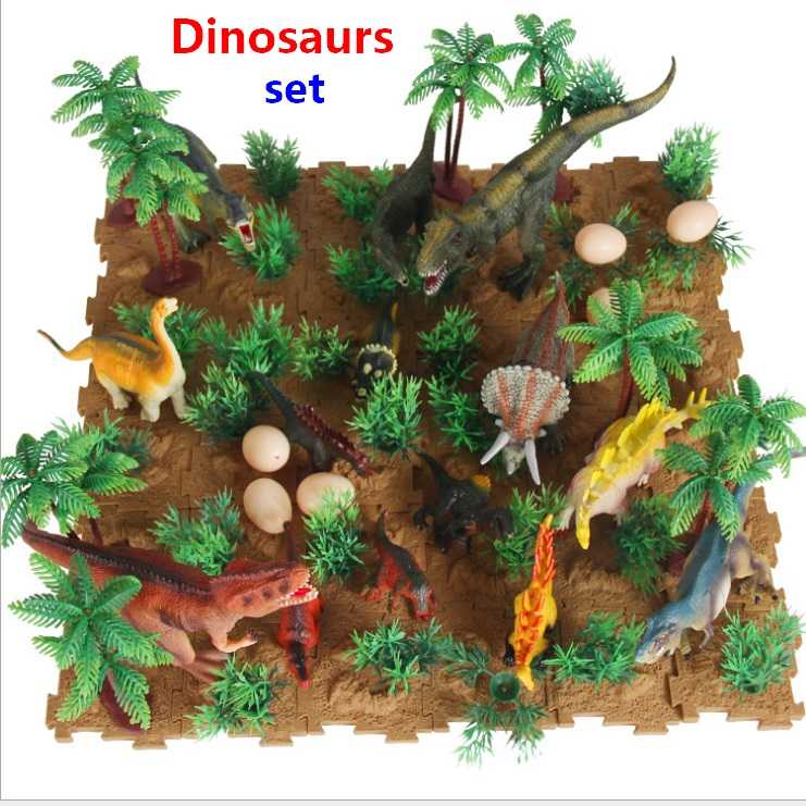New Jurassic World Park Dinosaur Plastic Toy Model Okaron Allosaurus Tyrannosaurus Rex Figures Scenes Toy Christmas Gift For Kid