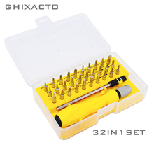 GHIXACTO 32 in 1 Precision Screwdriver Set Mini Magnetic Phone Mobile iPad Camera Maintenance Tool Torx