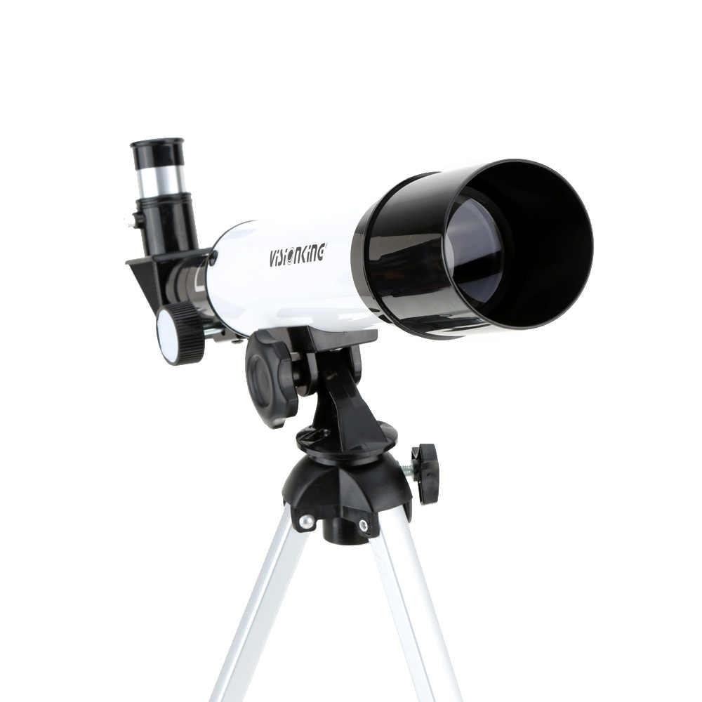/Telescópio Monocular Espaço Telescópio Astronômico Visionking 360/50mm Escopo Refrator Monocular Ao Ar Livre com Tripé Portátil