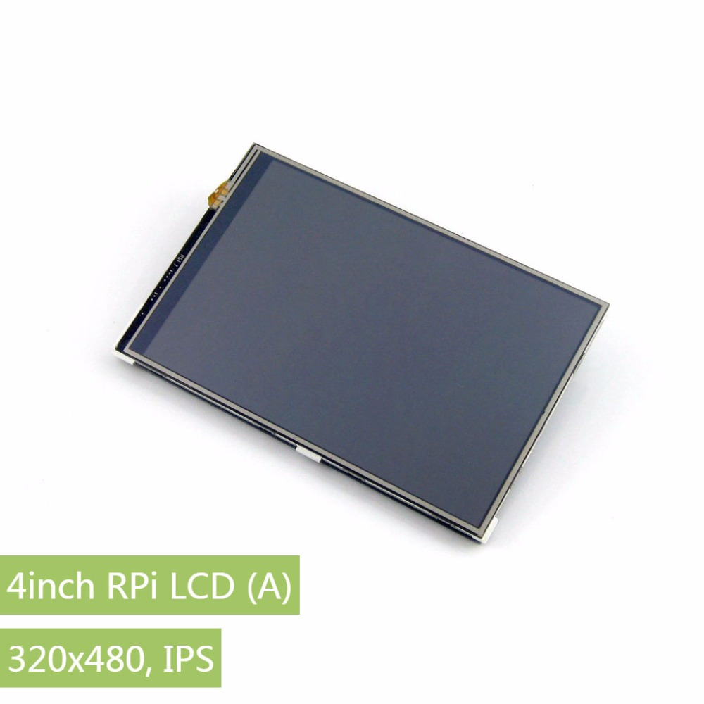 Parts Raspberry Pi LCD Display Module 4inch RPi LCD (A) 320*480 TFT Resistive Touch Display Screen SPI Interface for all Rapsber wareshare replacement 4 lcd touch screen module for raspberry pi model b b blue