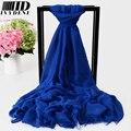 Moda Foulard Femme Hijab Lenço de Algodão Lenços de Marca Partido Multipurpose Projeto Azul Rosa Tamanho Grande Lenço de Algodão Xale Sólida