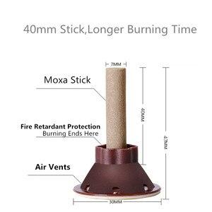 Image 5 - 50pcs/set Moxa Stick Moxibustion Smokeless Roll Mini Self adhesive Acupuncture Massage Sticker Artemisia Box Holder Roller Cream