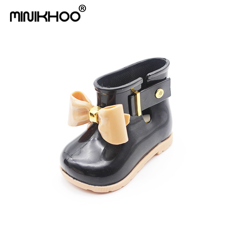 Mini Melissa Children Rainboots Butterfly Shoes Baby Jelly Shoes Unisex Rain Boots Girls Fashion Boot Non-slip Waterproof Boots ...