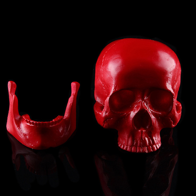 Resin Craft Red Skull Head Halloween Home Decorations Party Supplies  Festive Favors Gifts Medicine Teaching Accessories