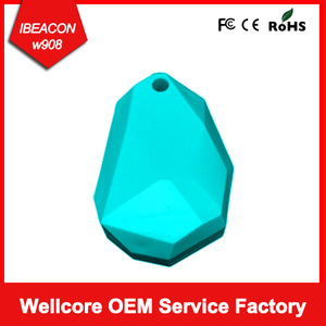 2017 Wellcore Newest Sticker Ibeacon,Bluetooth Waterproof ibeacon FCC CE RoHS Certified with SDK and APP