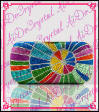 Aidocrystal colorful fancy patternTop branded handbag purses for elegant lady