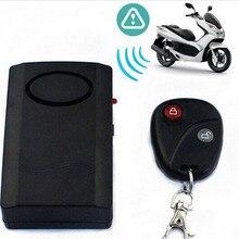 Coche de Seguridad Para el Hogar de Control Remoto Inalámbrico de Vibración Bici de La Motocicleta Puerta Ventana Detector de Alarma Antirrobo