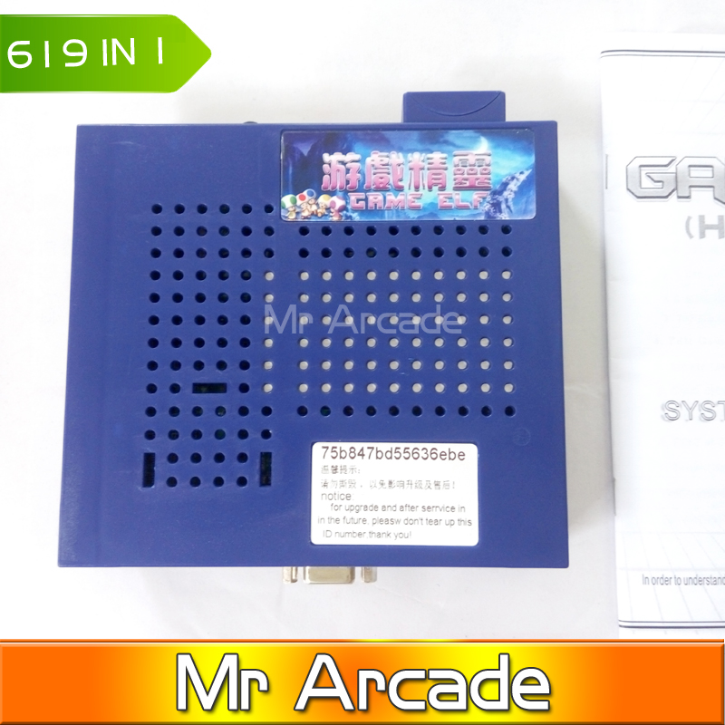 619in1 New Arrival Game Elf 619 In 1 Jamma Multi Game PCB Can play With CGA & VGA Horizontal Games For Arcade Game Machine new arrival mini coin operated arcade machine with classical game horizontal 815 in 1 game pcb