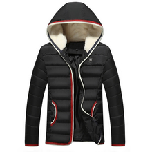 Winter Jacket Men 2017 Brand Parkas Thicken Hooded Coat Cotton-Padded Warm Outerwear Windproof Overcoat Male Clothing Large Size