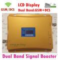 LCD display ! GSM  DCS Repeater 900 1800 Dual Band Cell Phone Signal Booster Amplifier Mobile Signal Repeater Cellular Amplifier
