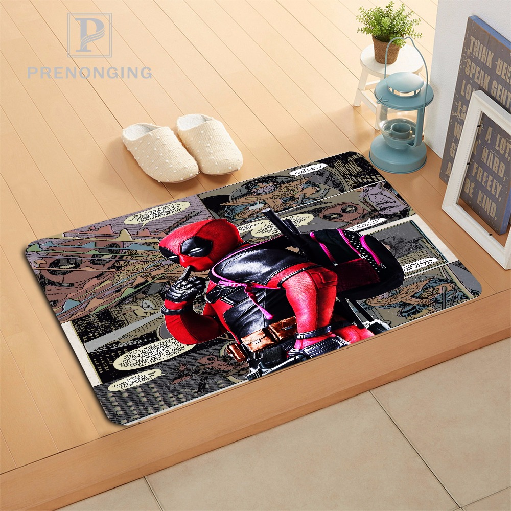Custom Deadpool Cartoon Doormat Print slip-resistant Mats Floor Bedroom Living Room Rugs 40x60cm 50x80cm Free Shipping 171120-03