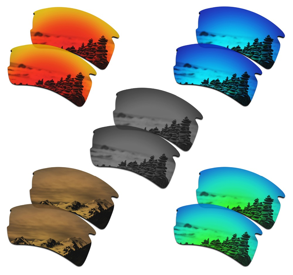 SmartVLT 5 Pairs Polarized Sunglasses Replacement Lenses For Oakley Flak 2.0 XL - 5 Colors