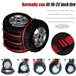 4 шт. запасная шина чехол нейлон зима лето автомобильные шины сумка для хранения автомобильных шин колеса автомобиля протектор для дюймов ...