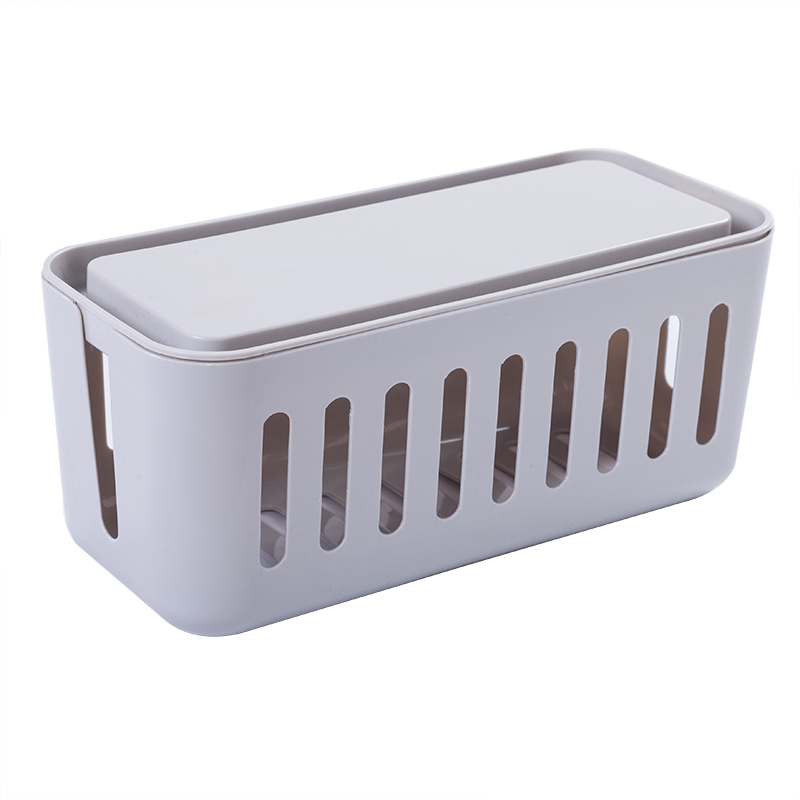 ZW040 Creative collection box Cablebox Power wire cable box Desk top power line socket data line storage box 31*14*14cm