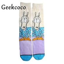 Cartoon animal Funny Fashion Sports Long Socks for Kids Men 3D Printed Stocking New Pattern Hip Hop Cotton Sock Unisex J0418