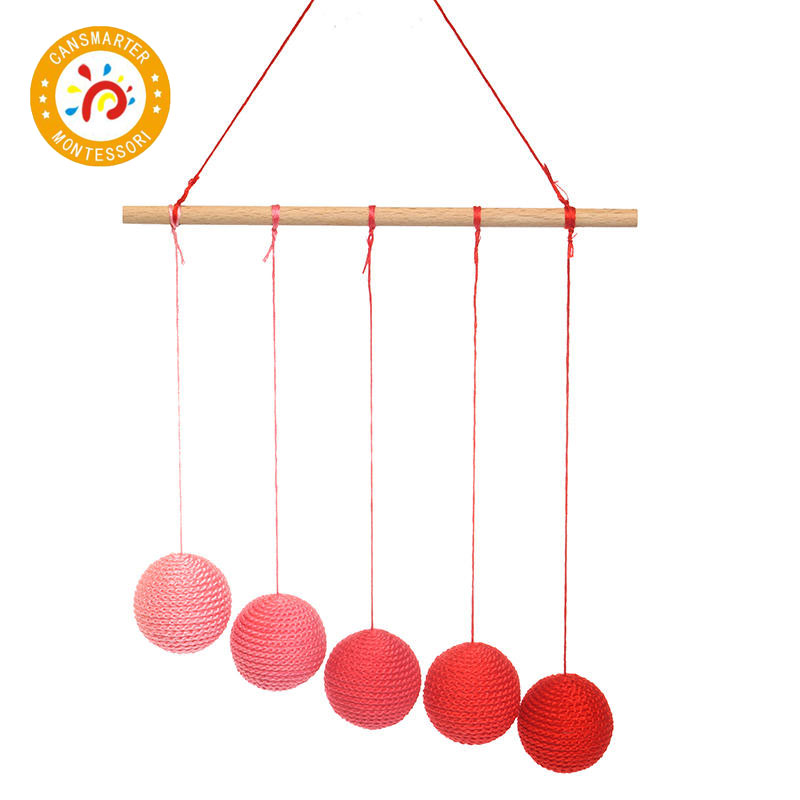 Montessori DIY Visual Practice Charm Birth Baby Gradient Color Paste Ball Hanging Gobbi in Plush Wall Stuff from Toys Hobbies