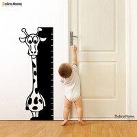 Jirafa Altura Regla de Medición Tabla de Crecimiento Del Bebé Nursery Vinilo Niños Habitación Home Pared Sticker Decal Extraíble Animal