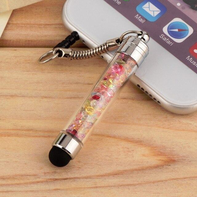 1 stylet à écran tactile Mini cristal diamant pour téléphone sans rayures et traces de doigts