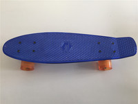 2015 Child Small Skateboard Shine Blue Plastic Mini Cruiser Board Light 22 Fish Skateboard With Transparent