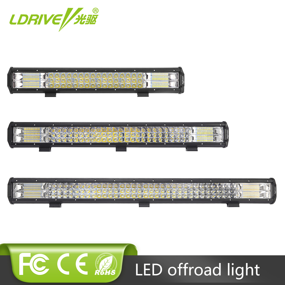 21 Inch 288W 31 Inch 360W LED Work Light Bar Tri-Row Car LED Combo Beam Fog Lamp For Off Road Trucks ATV 4×4 4WD For Ford Jeep