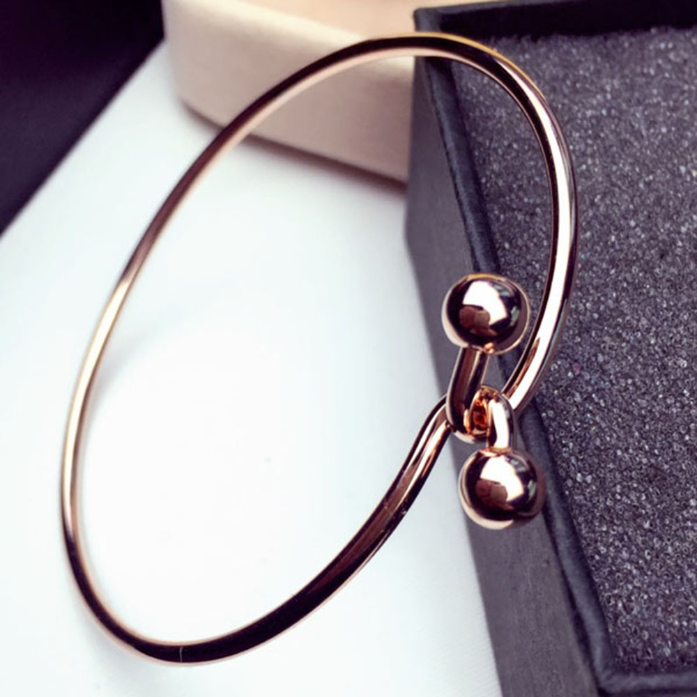 New Fashion Unique Design Round Beads Wire Buckle Bangles For Women ...