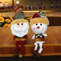 Retractable Santa Claus/Snowman Dolls Standing Navidad Figurine Ornaments Kids Christmas Gifts Toy Christmas Decoration 021