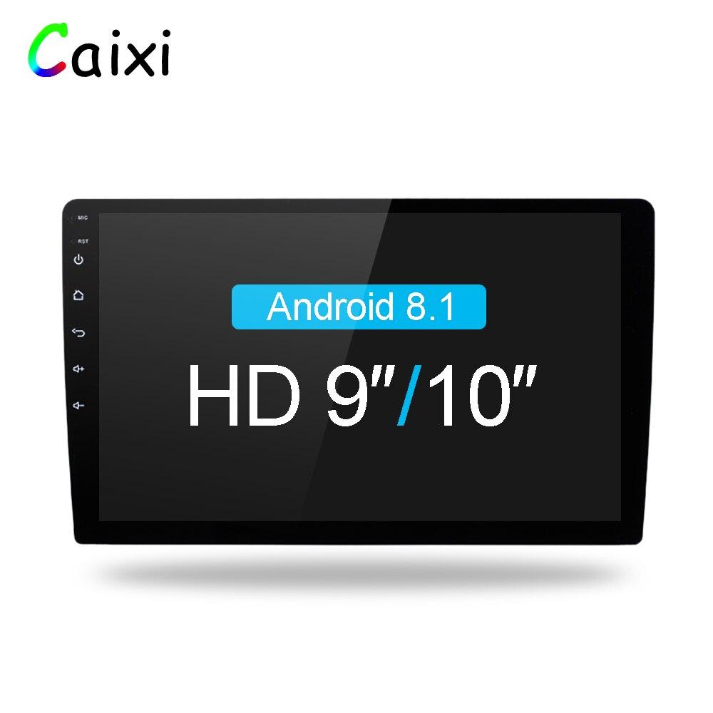 9/10 pouces Android 8.1 2 Din autoradio multimédia Playe universel auto stéréo Gps Navigation Bluetooth lecteur vidéo arrière Cam