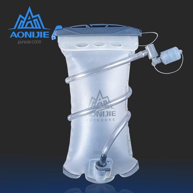 Aonijie sd20 reservatório macio 1.5l hidratação bexiga de água pacote saco de armazenamento de água tpu bpa livre para correr hidratação colete mochila
