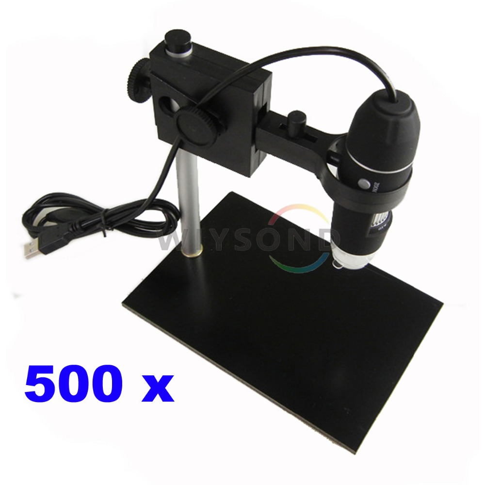 TL019 Portable Bench Portable USB Magnifier Camera 8 Led Digital 50 - 500X 2 MP Digital Microscope Endoscope with Base Stand 2 led magnifier