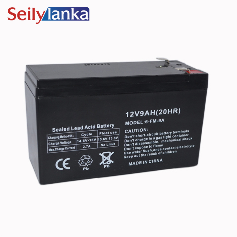 12V 9.0AH Battery Sealed Storage Batteries Lead Acid Rechargeable for sound night light monitor ...