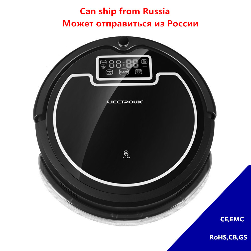LIECTROUX Robot Vacuum Cleaner Intelligent For Dust Pet Dander Allergens Sterilizing Schedule Cleaning Mopping Remote Controller  free all 2017 new liectroux robot vacuum cleaner a335 mop suction uv remote for home vacuum dry cleaning pet cat dog hair dust