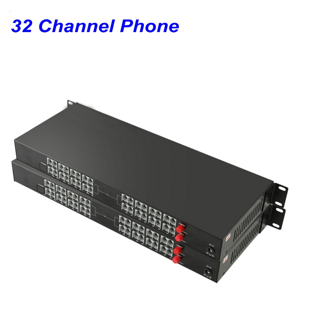 1 Pair 32 Channel- PCM Voice Tel Over Fiber Optic Multiplexer Extender,FC Optical Port,Support Caller ID And Fax Function