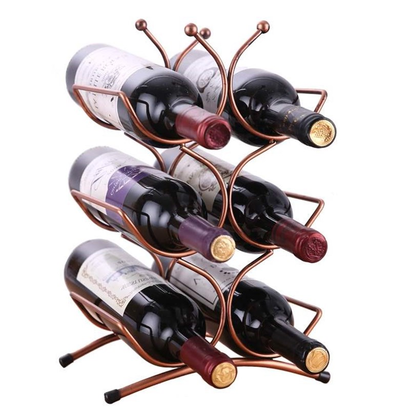 Botelleros Estante creativo botella de decoración de botellas Montado en la pared Racks de vino Retro Style Iron Multi-botella de vino tinto Titular de la botella Decoración de la pared Suspensión Creative Wine