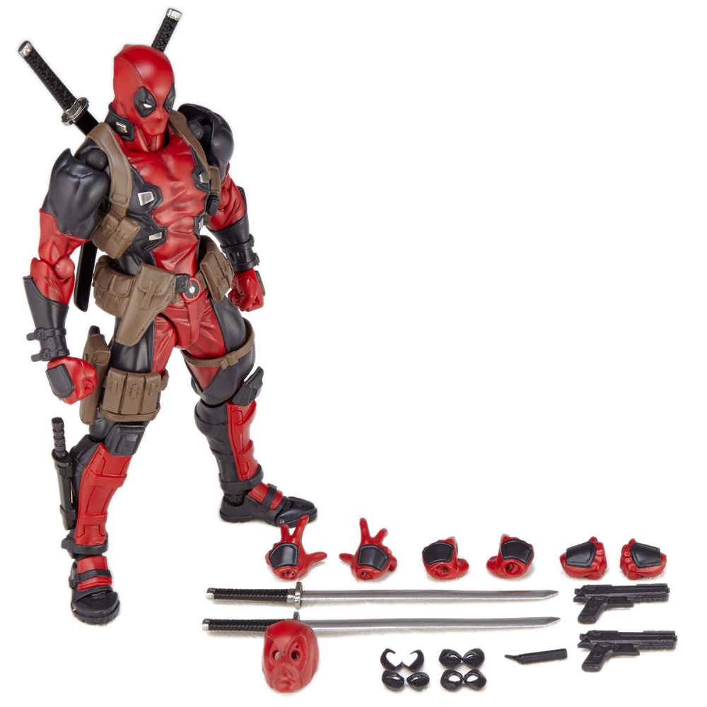 US $16 71 24% OFF|FIGMA X MAN Series Spiderman Figure NO 001 Revoltech  Deadpool With Bracket NO 002 Revoltech Spider Man Action Figures-in Action  &