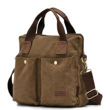 2016 Multifunction Casual Vintage Style Men Practical Canvas Shoulder Messenger Bag Soft Handbag for Travel Shopping