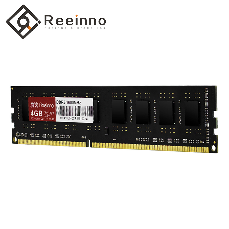 Reeinno ram ddr3 4GB/8GB 1600MHz 1.5V NON-ECC 12800MB/s 240pin Lifetime Warranty Single rams Desktop memory for Intel stock