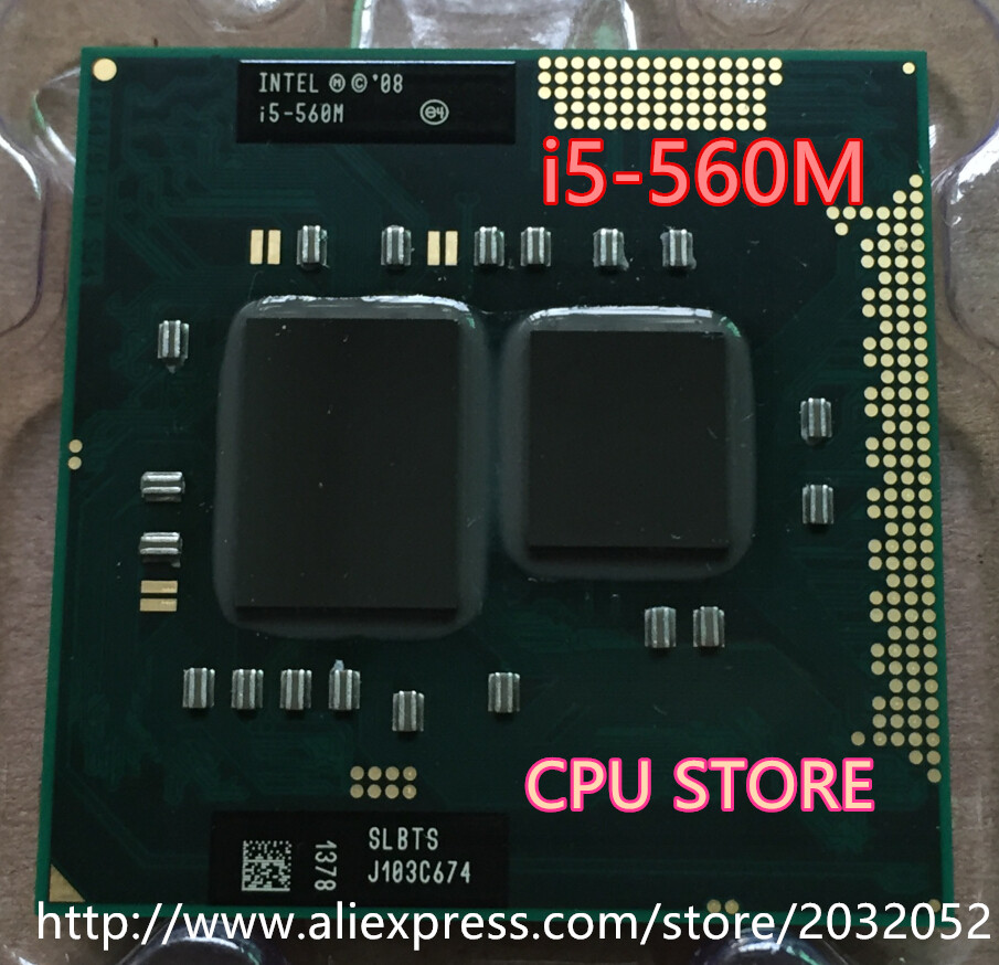 Original lntel Dual Core i5 560M 2.66GHz 560 Notebook processors Laptop CPU PGA 988 i5-560M(working 100% Free Shipping)(China)