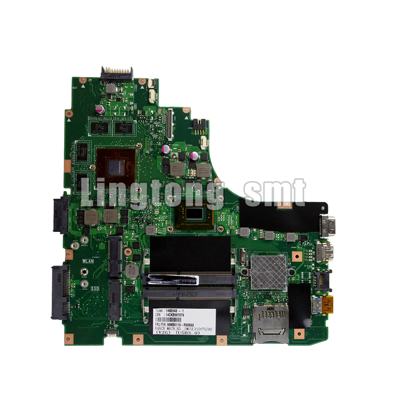 K46CB laptop motherboard For ASUS K46CM K46CB A46C K46C  new motherboard  Test motherboard rev2.0 i3 CPU GT740K46CB laptop motherboard For ASUS K46CM K46CB A46C K46C  new motherboard  Test motherboard rev2.0 i3 CPU GT740