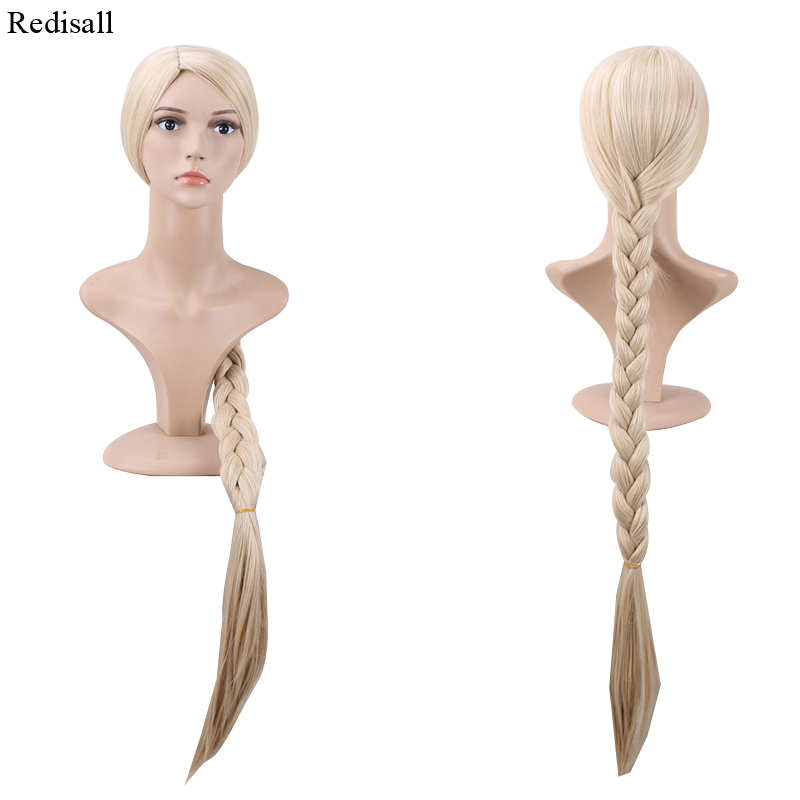 120cm Princess Tangled Cosplay Wig Rapunzel Long Braids Synthetic Hair Halloween Role Play Wig Up-To-Date Styling