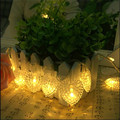 2.5M 24 LED lamps Battery Operated Christmas Valentine's Day Love-Shaped  LED String Pendant  Light Home  Wedding Decoration