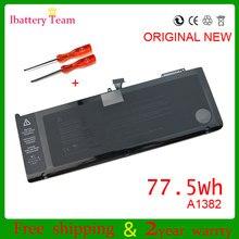 10.95 v 77.5wh a1382 bateria para apple macbook pro 15 inch polegadas a1286 2011 mc723 mc721 série novo
