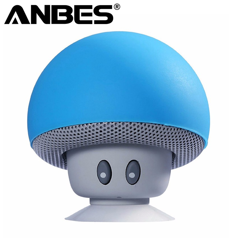 ANBES Musically Pop Phone Holder Soporte Speakers Mp3 Player Bluetooth Little Mushroom Stand for Xiaomi iPhone Samsung Huawei classic plaid pattern shirt collar long sleeves slimming colorful shirt for men