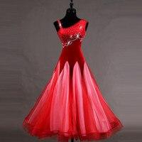 black Ballroom Dance Competition Dresses Custom Made Women Ballroom Dancing Skirt Modern Flamenco Waltz Dance Dress