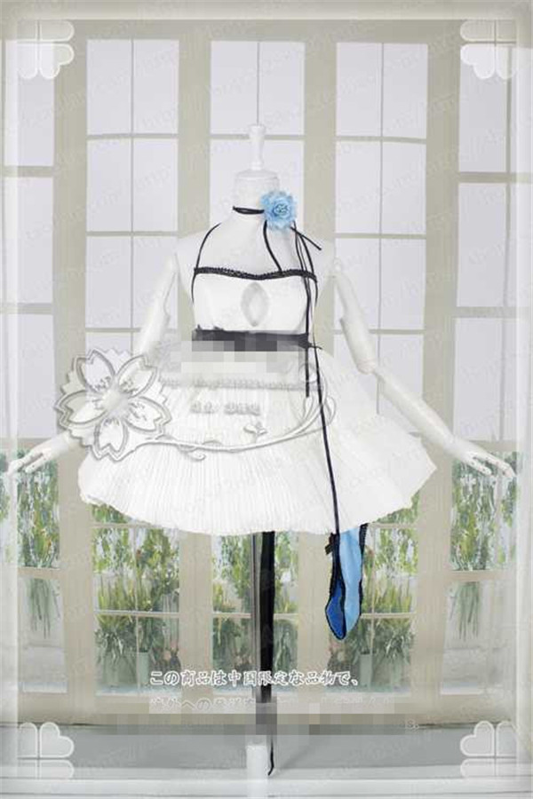 2019 New Custom Made VOCALOID Hatsune Miku Gumi Luka Cosplay Costume Cos White Dress elegant full sets Multiple choices